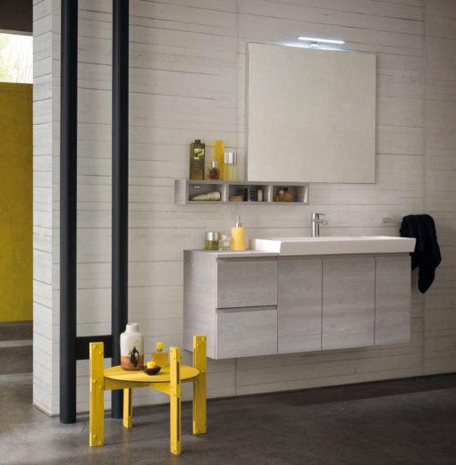 CL004 - Mobile arredo bagno design L.121 cm personalizzabile COMPAB