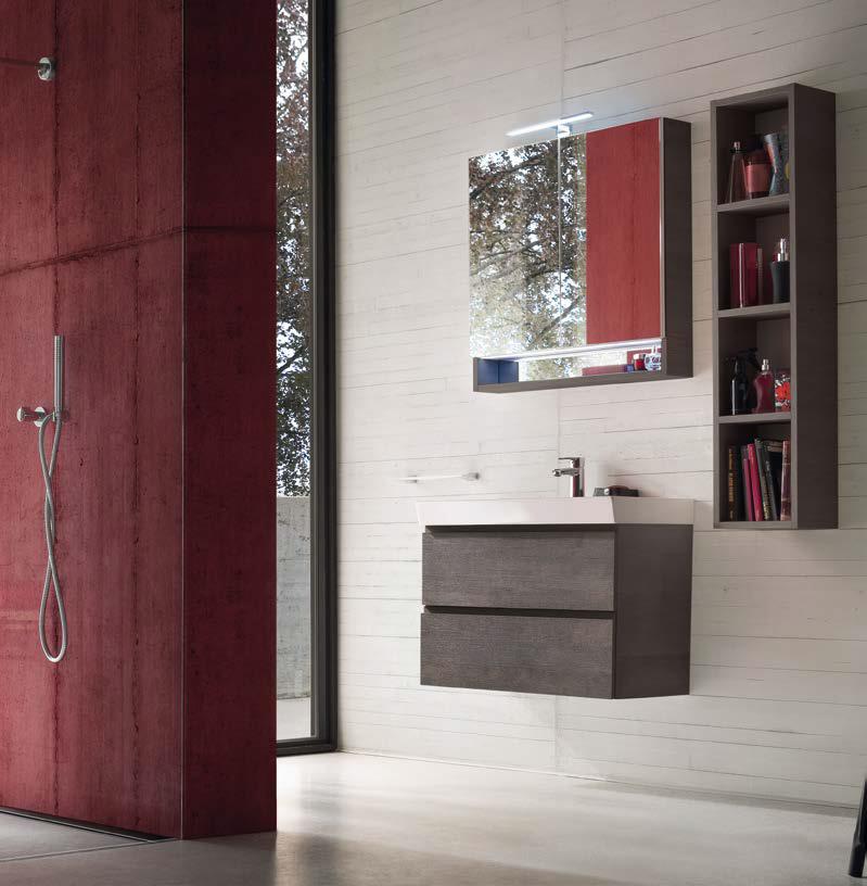 CL002 - Mobile arredo bagno design L.71 cm personalizzabile COMPAB ...