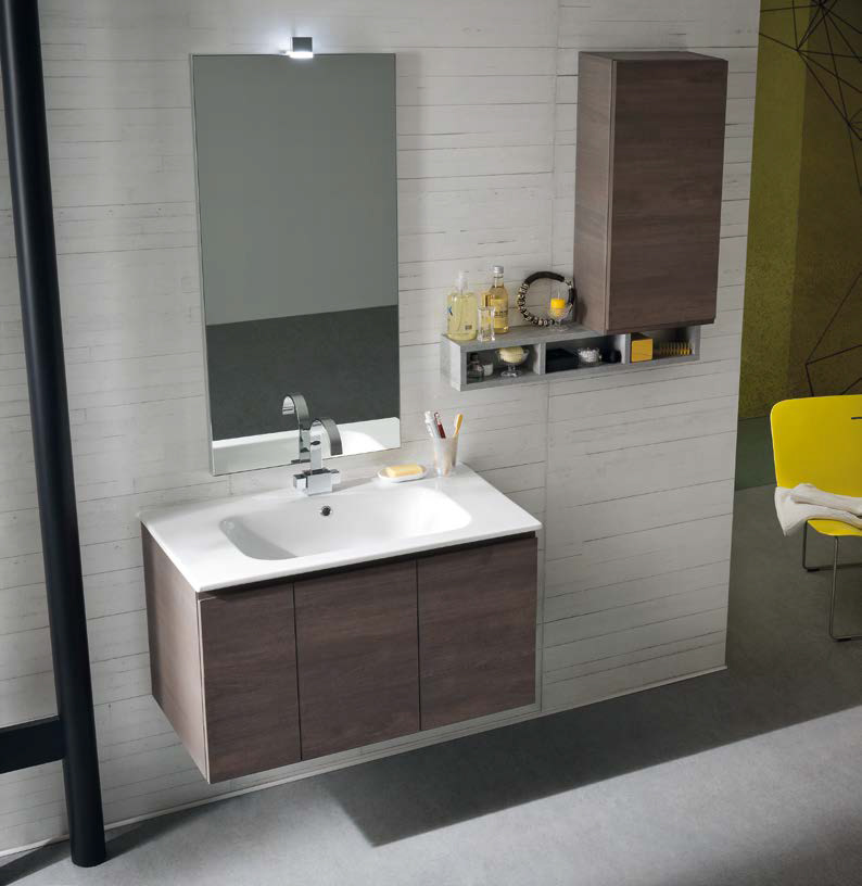 CL031 - Mobile arredo bagno design L.95,5 cm personalizzabile ...