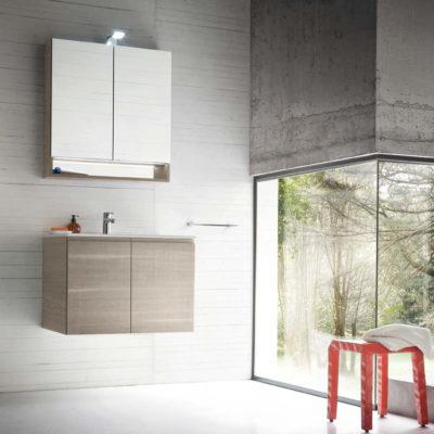 CL015 - Mobile arredo bagno design L.71,5 cm personalizzabile COMPAB