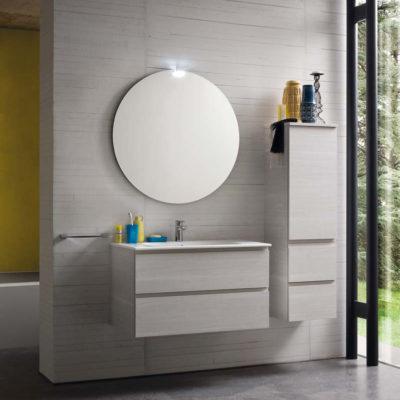 CL016 - Mobile arredo bagno design L.86,5 cm personalizzabile COMPAB