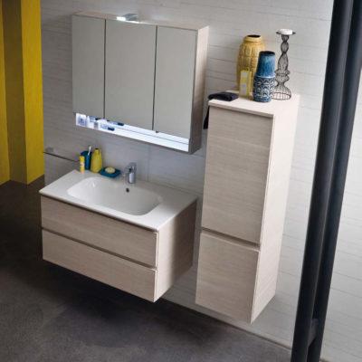 CL017 - Mobile arredo bagno design L.86,5 cm personalizzabile COMPAB