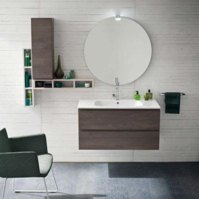 CL019 - Mobile arredo bagno design L.106,5 cm personalizzabile COMPAB