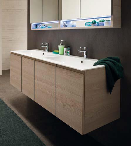 Cl020 mobile arredo bagno design doppio lavabo - Arredo bagno doppio lavabo ...