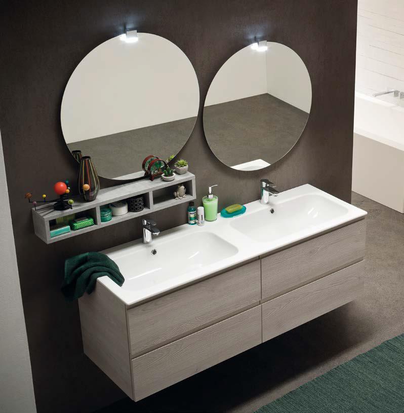 Cl021 mobile arredo bagno design doppio lavabo - Arredo bagno doppio lavabo ...