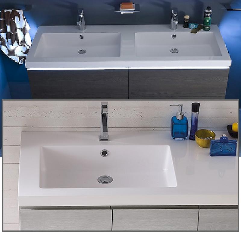 Cl020 mobile arredo bagno design doppio lavabo - Lavabo bagno senza mobile ...