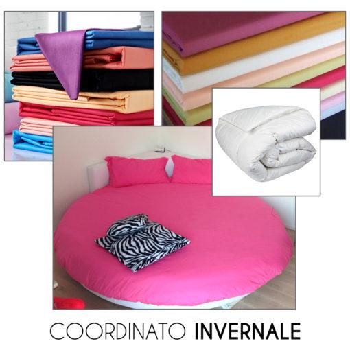Coordinato INVERNALE per letto tondo - Lenzuola con piumone