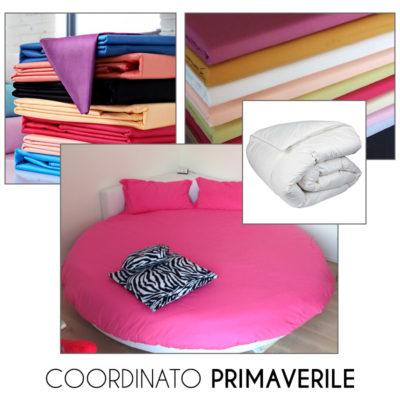 Coordinato PRIMAVERILE per letto tondo - Lenzuola con piumone