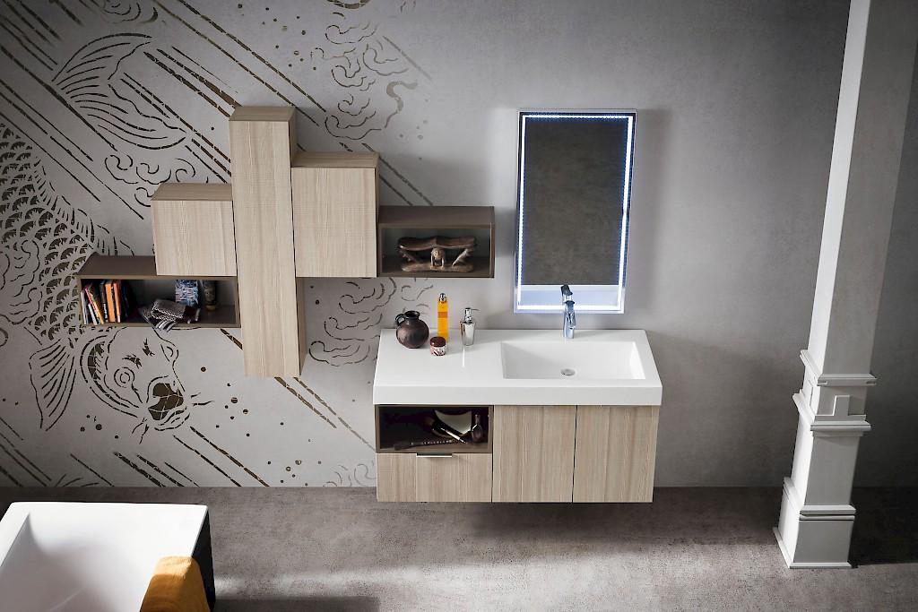 B201 02 mobile arredo bagno design cm personalizzabile compab interno77 soluzioni d - Mobili bagno compab ...