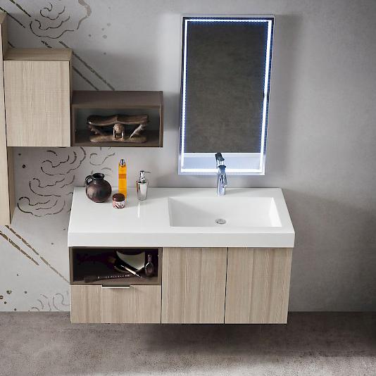 B201 02 mobile arredo bagno design cm for Mobile bagno 120 cm