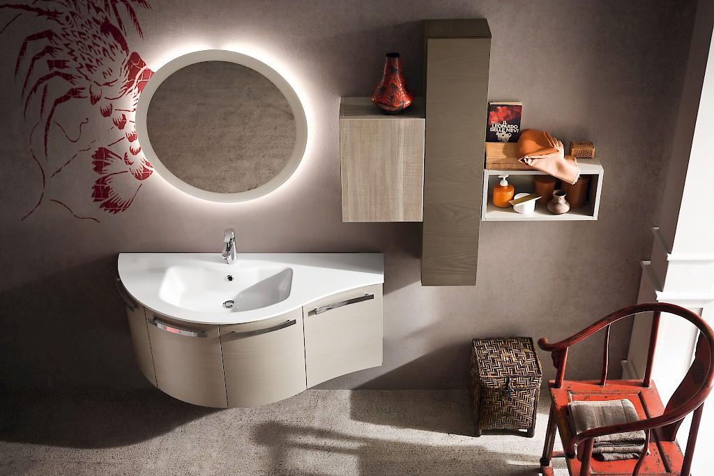 B201 12 u2013 mobile arredo bagno curvo l.125 cm personalizzabile compab