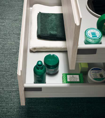 CL021 - Mobile arredo bagno design doppio lavabo L.141,5 cm personalizzabile COMPAB