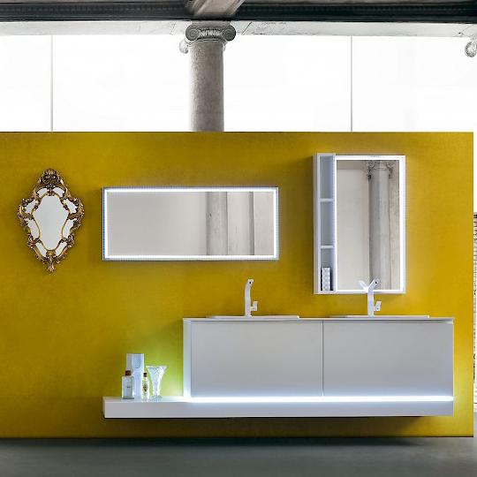 jacana ja20 - mobile luxury arredo bagno l.225 cm personalizzabile ... - Arredo Bagno Luxury