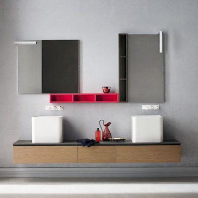 JACANA JA22 - Mobile luxury arredo bagno L.222 cm personalizzabile COMPAB