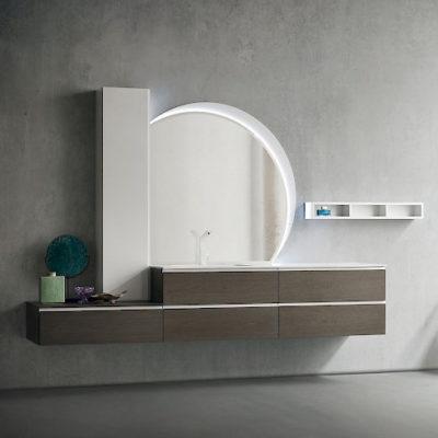 JACANA JA23 - Mobile luxury arredo bagno L.256+95 cm personalizzabile COMPAB
