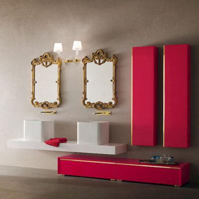 JACANA JA27 - Mobile luxury arredo bagno L.194+194 cm personalizzabile COMPAB