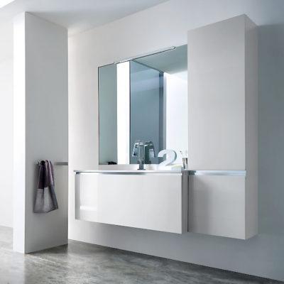 JACANA JA3 - Mobile luxury arredo bagno L.131 cm personalizzabile COMPAB