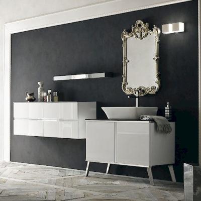 JACANA JA33 - Mobile luxury arredo bagno L.101+141 cm personalizzabile COMPAB