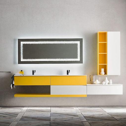 JACANA JA34 - Mobile luxury arredo bagno L.286 cm personalizzabile COMPAB
