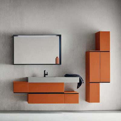 JACANA JA42 - Mobile luxury arredo bagno L.155,5+50 cm personalizzabile COMPAB