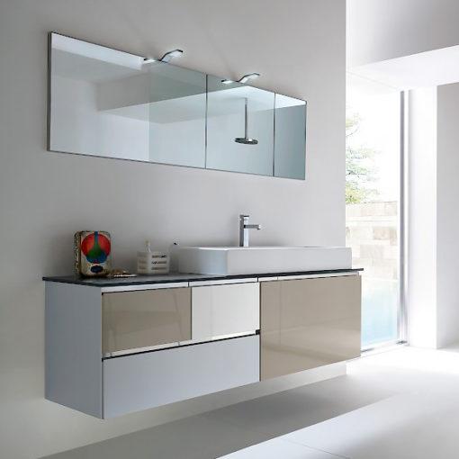 JACANA JA5 - Mobile luxury arredo bagno L.142 cm personalizzabile COMPAB