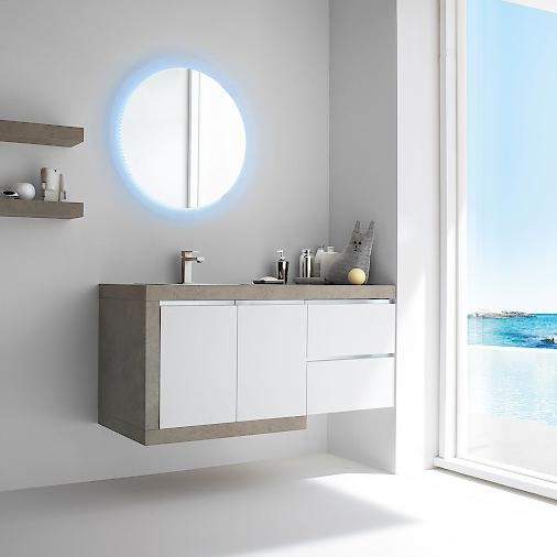 JACANA JA13 - Mobile luxury arredo bagno L.126 cm personalizzabile COMPAB
