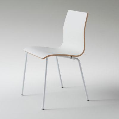Milano - Sedia moderna ed elegante in legno curvato