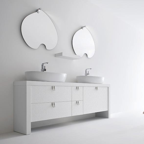 Bb1 mobile arredo bagno design doppio lavabo cm - Mobili bagno lusso ...
