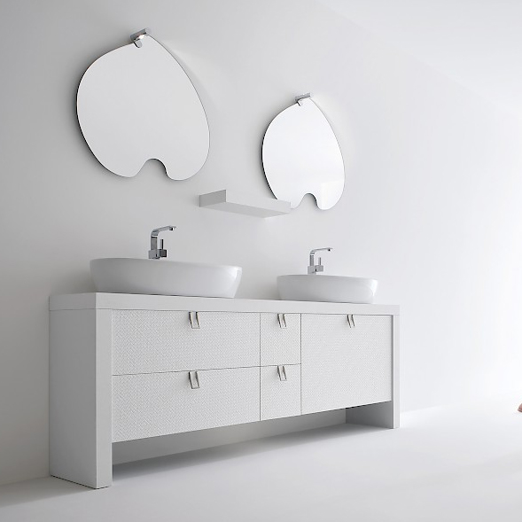 Bb1 mobile arredo bagno design doppio lavabo cm - Arredo bagno doppio lavabo ...