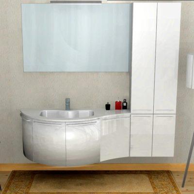 B201 52 – Mobile arredo bagno curvo L.174,5 cm personalizzabile COMPAB