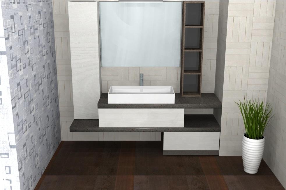 B201 79 - Mobile arredo bagno design L.185 cm personalizzabile ...