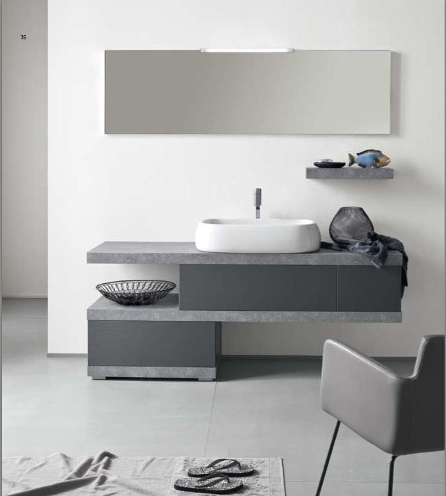 EL 22 - Mobile arredo bagno design L.130 cm personalizzabile ...