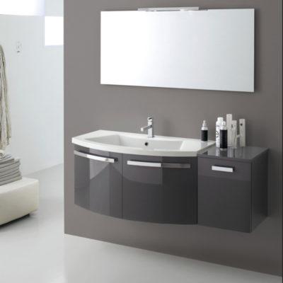 B201 LY06 – Mobile arredo bagno curvo L.130 cm personalizzabile COMPAB