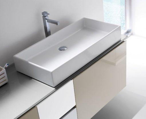 B201 79 - Mobile arredo bagno design L.185 cm personalizzabile COMPAB