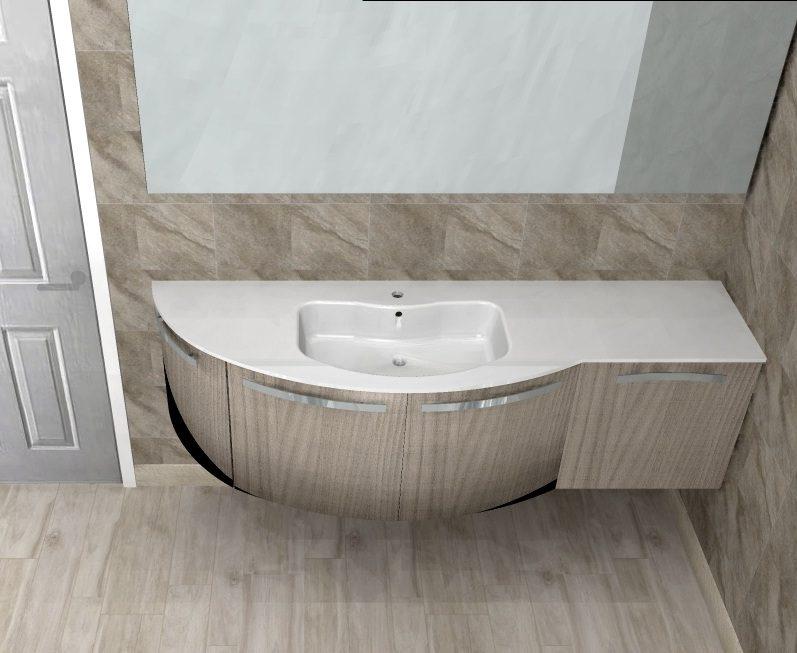b201 versus a671 mobile arredo bagno curvo l1717 cm personalizzabile compab