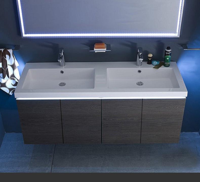B201 18 mobile arredo bagno design doppio lavabo - Arredo bagno doppio lavabo ...