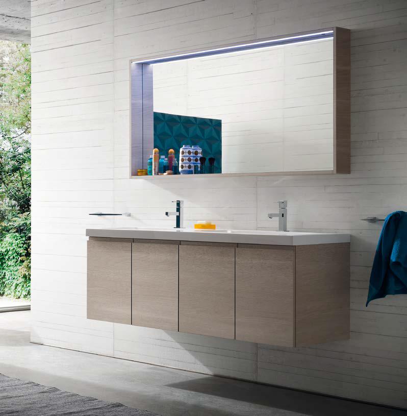 Cl026 mobile arredo bagno design doppio lavabo cm - Arredo bagno doppio lavabo ...