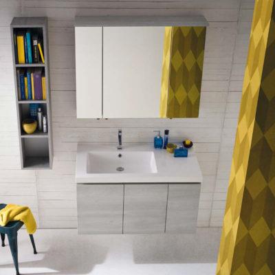 CL024 - Mobile arredo bagno design L.96 cm personalizzabile COMPAB