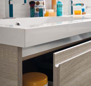 CL027 - Mobile arredo bagno design doppio lavabo L.141 cm personalizzabile COMPAB