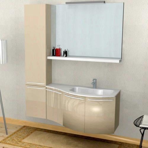 B201 51 – Mobile arredo bagno curvo L.140,5 cm personalizzabile COMPAB