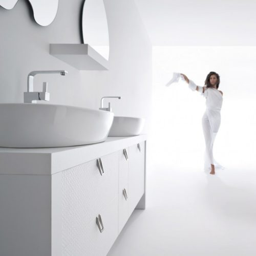 BB1 - Mobile arredo bagno design doppio lavabo L.177 cm personalizzabile COMPAB