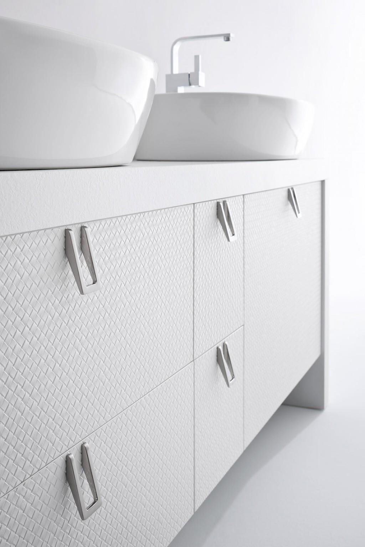 Bb1 mobile arredo bagno design doppio lavabo cm personalizzabile compab interno77 - Lavabo bagno design ...