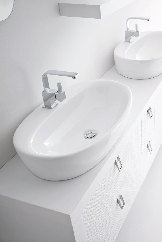 Bb1 mobile arredo bagno design doppio lavabo cm for Arredo bagno lavabo