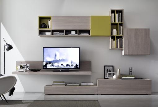 Tender COD. 111 - Mobile parete attrezzata per soggiorno L.335 cm MAB