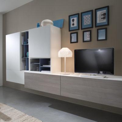Tender COD. 106 - Mobile parete attrezzata per soggiorno L.288 cm MAB