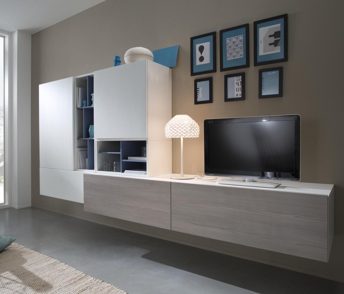 Tender cod 106 mobile parete attrezzata per soggiorno l for Mobile parete soggiorno