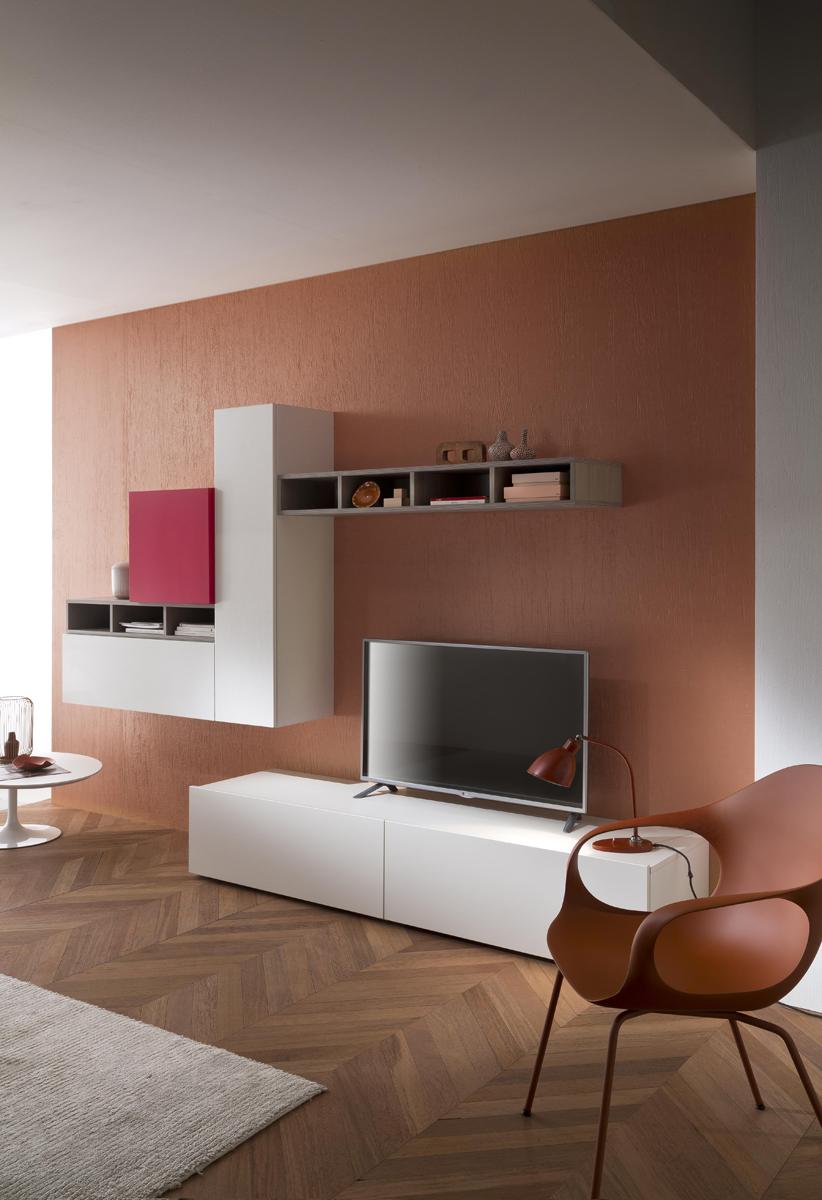 Tender cod 113 mobile parete attrezzata per soggiorno l - Mobile parete soggiorno ...