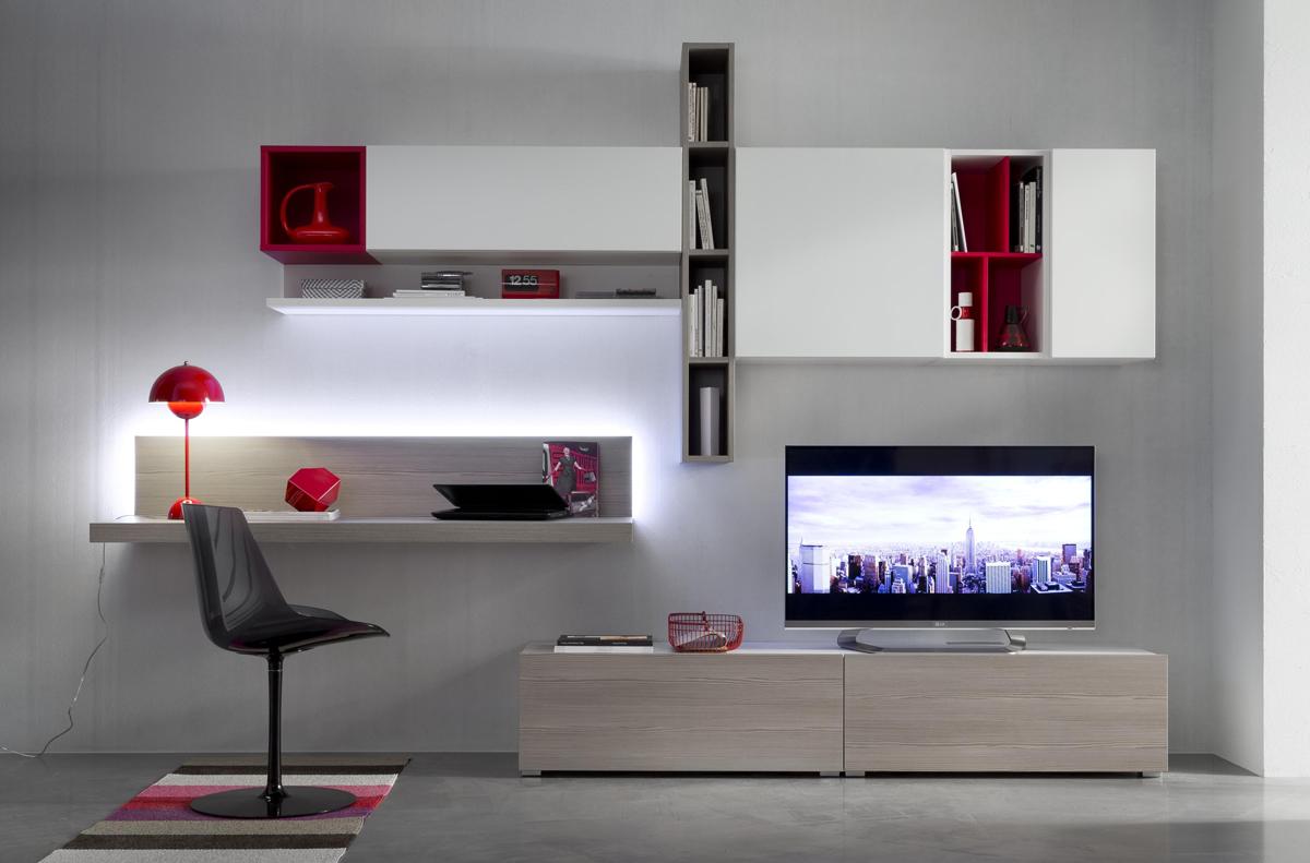 Tender cod 110 mobile parete attrezzata per soggiorno l for Mobile per soggiorno