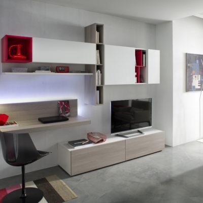 Tender COD. 110 - Mobile parete attrezzata per soggiorno L.320 cm MAB