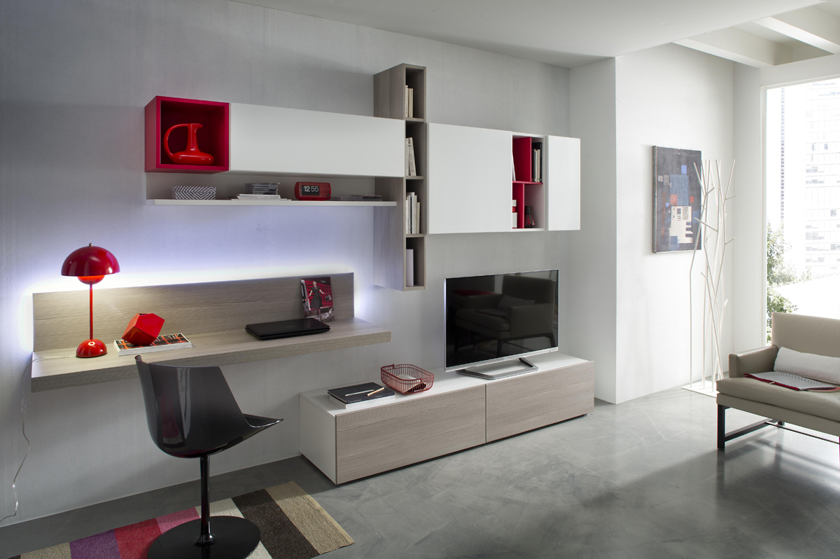 Tender cod 110 mobile parete attrezzata per soggiorno l for Mobile parete soggiorno